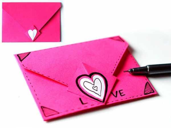 Конверт из цветной бумаги