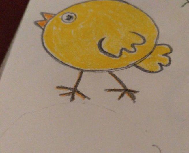 Как нарисовать цыплёнка